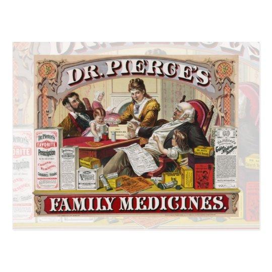 Dr. Pierce's Family Medicines Postcard