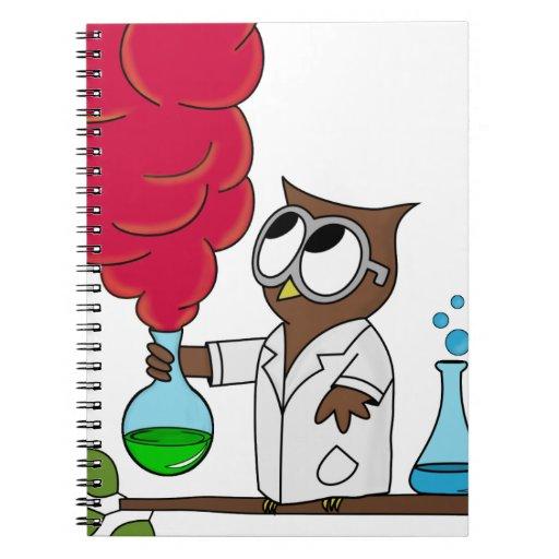 Dr. rer. nat. Owl Spiral Notebooks