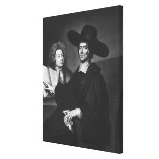 Dr Richard Busby  engraved by James Masson Canvas Print