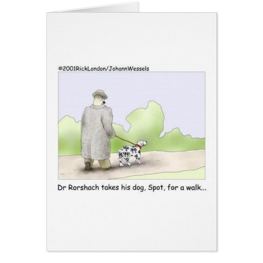 Dr. Roarshach Cartoon Gifts, Tees, & Collectibles Card
