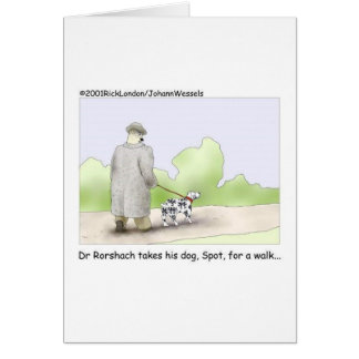 Dr. Roarshach Cartoon Gifts, Tees, & Collectibles Greeting Card