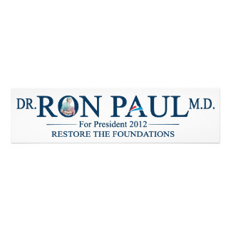 Dr Ron Paul M D For President 2012 Photographic Print