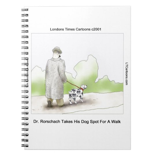 Dr Rorschach Takes Dog Spot 4 A Walk Funny Notebook