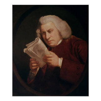 Dr. Samuel Johnson  1775 Poster