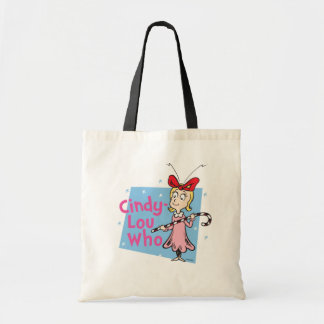 Dr. Seuss | Cindy-Lou Who - Candy Cane Tote Bag