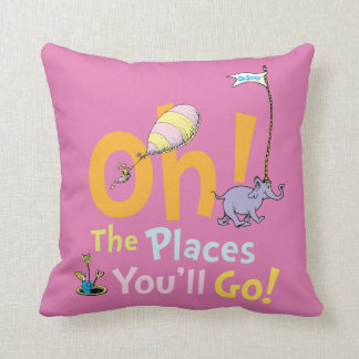 Dr. Seuss   Oh! The Places You'll Go! Throw Pillow