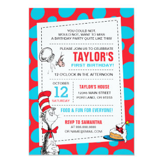 Dr. Seuss | The Cat in the Hat Birthday Card