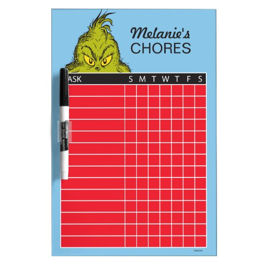 Dr. Seuss | The Grinch Chore Chart Dry