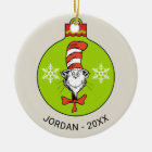 Dr Seuss | The Grinch | Classic The Cat in the Hat Christmas Ornament