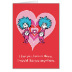 Dr. Seuss Valentine | Thing 1 Thing 2 Card