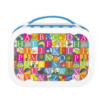 Dr. Seuss's ABC Colorful Block Letter Pattern Lunch Box