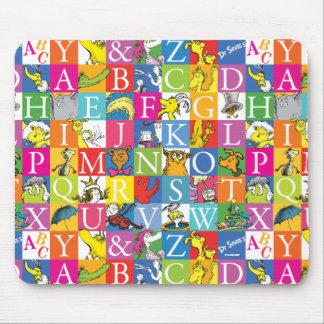 Dr. Seuss's ABC Colorful Block Letter Pattern Mouse Mat