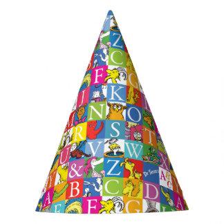 Dr. Seuss's ABC Colorful Block Letter Pattern Party Hat