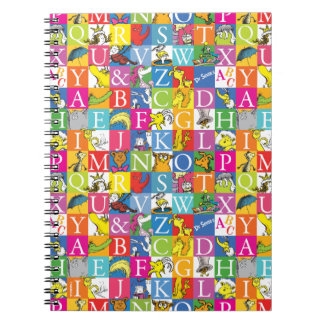 Dr. Seuss's ABC Colorful Block Letter Pattern Spiral Notebooks