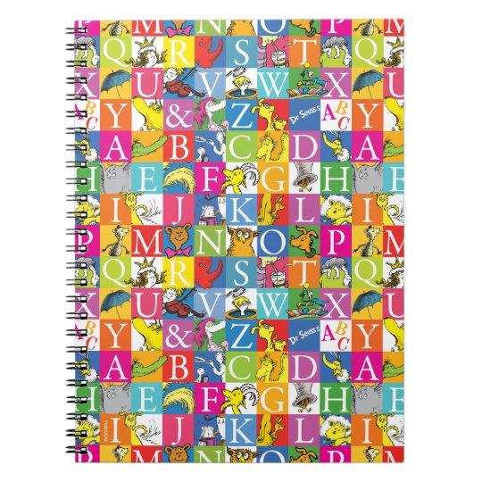 Dr. Seuss's ABC Colourful Block Letter Pattern Notebook
