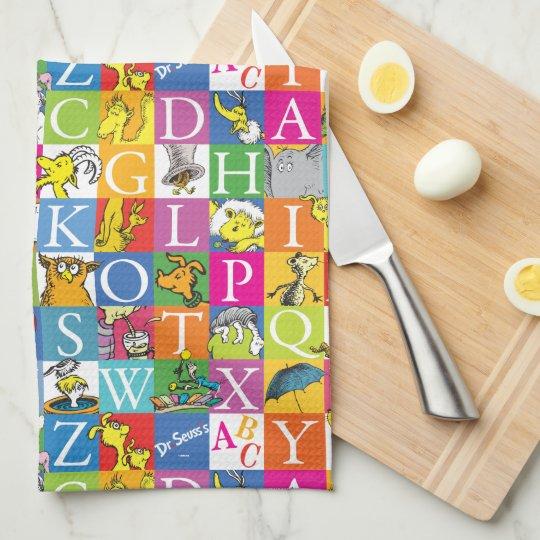 Dr. Seuss's ABC Colourful Block Letter Pattern Tea