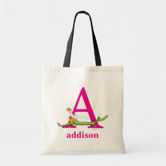 Dr. Seuss's ABC: Letter A - Pink | Add Your Name Tote Bag