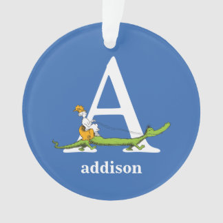 Dr. Seuss's ABC: Letter A - White | Add Your Name
