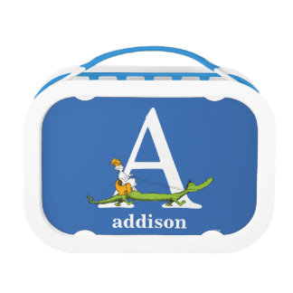 Dr. Seuss's ABC: Letter A - White   Add Your Name Lunch Boxes