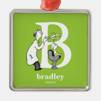 Dr. Seuss's ABC: Letter B - White | Add Your Name Christmas Ornament