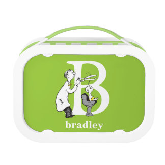 Dr. Seuss's ABC: Letter B - White | Add Your Name Lunch Box