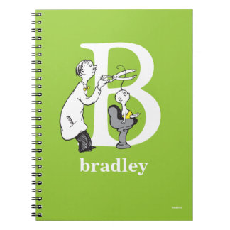 Dr. Seuss's ABC: Letter B - White | Add Your Name Note Book