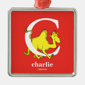 Dr. Seuss's ABC: Letter C - White | Add Your Name Christmas Ornament
