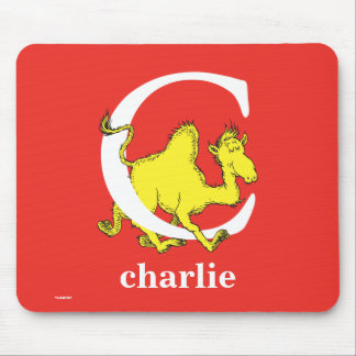 Dr. Seuss's ABC: Letter C - White | Add Your Name Mouse Pad