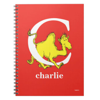 Dr. Seuss's ABC: Letter C - White   Add Your Name Notebook
