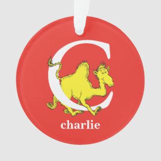 Dr. Seuss's ABC: Letter C - White | Add Your Name Ornament