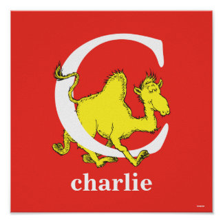 Dr. Seuss's ABC: Letter C - White   Add Your Name Poster