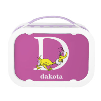 Dr. Seuss's ABC: Letter D - White   Add Your Name Lunchbox