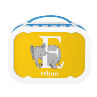 Dr. Seuss's ABC: Letter E - White   Add Your Name Lunch Boxes