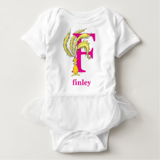 Dr. Seuss's ABC: Letter F - Pink   Add Your Name Baby Bodysuit