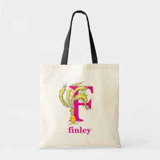 Dr. Seuss's ABC: Letter F - Pink | Add Your Name Tote Bag