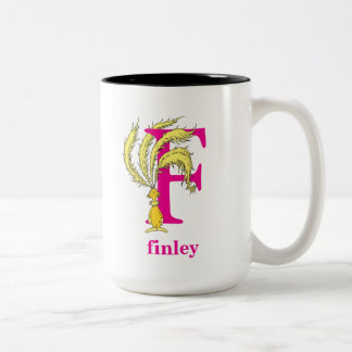 Dr. Seuss's ABC: Letter F - Pink | Add Your Name Two-Tone Coffee Mug