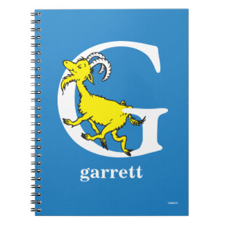 Dr. Seuss's ABC: Letter G - White | Add Your Name Spiral Note Books