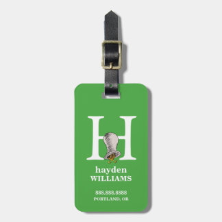 Dr. Seuss's ABC: Letter H - White | Add Your Name Luggage Tag