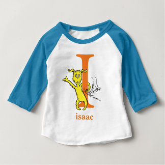 Dr. Seuss's ABC: Letter I - Orange   Add Your Name Baby T-Shirt