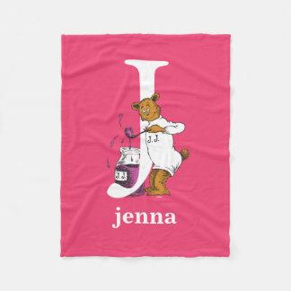 Dr. Seuss's ABC: Letter J - White | Add Your Name Fleece Blanket