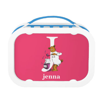 Dr. Seuss's ABC: Letter J - White | Add Your Name Lunchbox