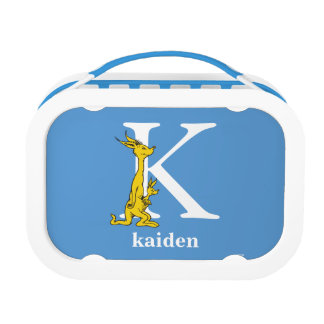 Dr. Seuss's ABC: Letter K - White   Add Your Name Lunchbox