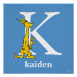 Dr. Seuss's ABC: Letter K - White | Add Your Name Poster