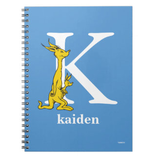 Dr. Seuss's ABC: Letter K - White | Add Your Name Spiral Notebook