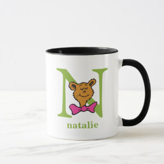 Dr. Seuss's ABC: Letter N - Green | Add Your Name Mug