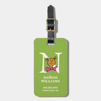 Dr. Seuss's ABC: Letter N - White | Add Your Name Luggage Tag