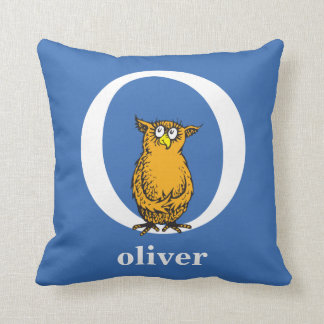 Dr. Seuss's ABC: Letter O - White | Add Your Name Cushion