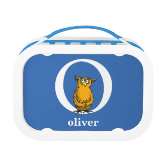 Dr. Seuss's ABC: Letter O - White | Add Your Name Lunch Box