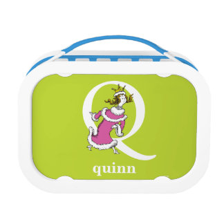 Dr. Seuss's ABC: Letter Q - White | Add Your Name Lunchbox
