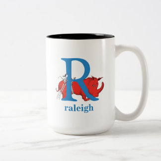Dr. Seuss's ABC: Letter R - Blue | Add Your Name Two-Tone Coffee Mug